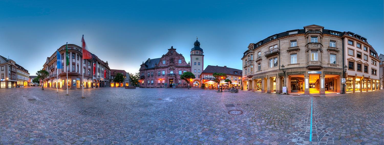 Ettlinger Marktplatz - Blaue Stunde