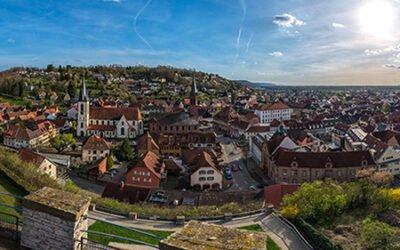 Weingartener Stadtpanorama vom Hochstativ